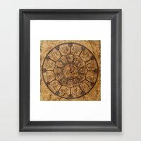 Wheel Of Time Framed Art Print