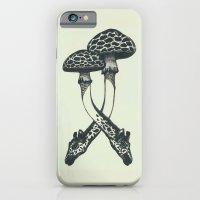 iPhone & iPod Case featuring Mushrooms & Giraffe by kzeng Jiang