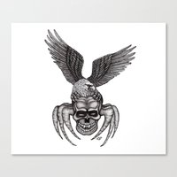 Spider-Skull and Eagle Canvas Print