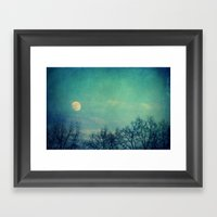 Ice Moon Framed Art Print