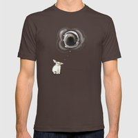 I Want To Be An Astronau… Mens Fitted Tee Brown SMALL