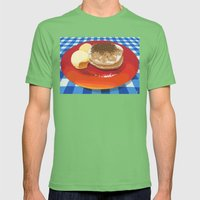 Pancakes Week 15 Mens Fitted Tee Grass SMALL