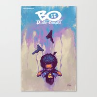 Bo Plushy Gangsta issue #3 cover poster Canvas Print