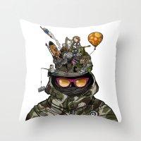 Snazzy Cap. Throw Pillow
