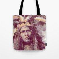 American Indian Portrait Tote Bag