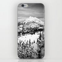 Snowy Mountain Peak Blac… iPhone & iPod Skin