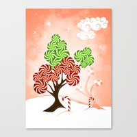 Magic Candy Tree - V1 Canvas Print