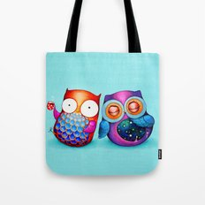 Night and Day Owls Tote Bag