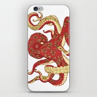 Flowered Octopus iPhone & iPod Skin