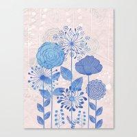 Light Blue Flowers Canvas Print