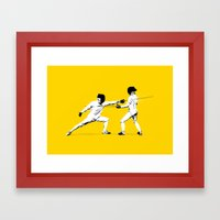 The Duel Framed Art Print