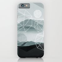 iPhone Cases featuring Winter Mountains by cafelab