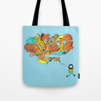 Thinking Of Monsters Tote Bag