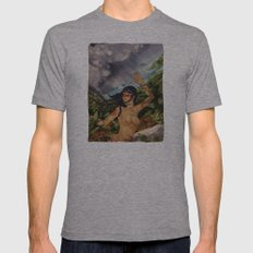 Taino girl Mens Fitted Tee Athletic Grey SMALL