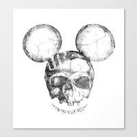 Mickey Skull Canvas Print