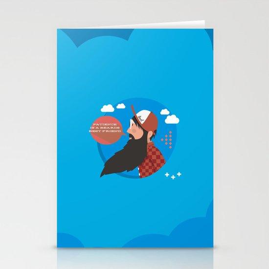 Patience is a beards best friend Stationery Card