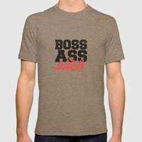Boss Ass Bitch Mens Fitted Tee Tri-Coffee SMALL