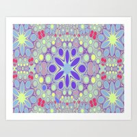 Hippy Circles And Flower… Art Print