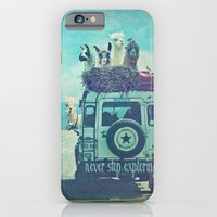 iPhone Cases featuring NEVER STOP EXPLORING II Close Up by Monika Strigel