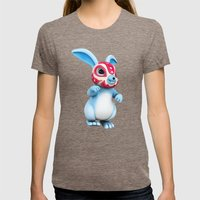 Lucha Rabbit-Blue Brother Womens Fitted Tee Tri-Coffee SMALL