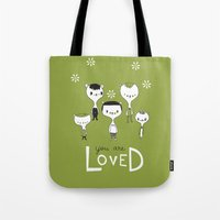You are Loved - green Tote Bag