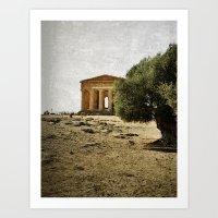 Mediterranean roots Art Print