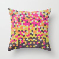 Honeycomb   Abyss Throw Pillow