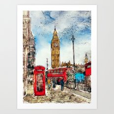 London Icons Art Print