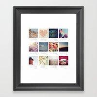2013 Calendar Framed Art Print