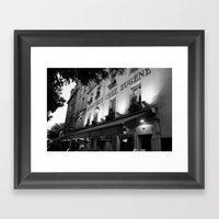 B&W Chez Eugene Framed Art Print