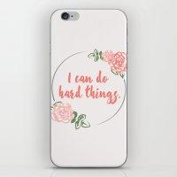 I Can Do Hard Things iPhone & iPod Skin