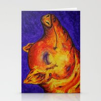 Pig, Happy Stationery Cards