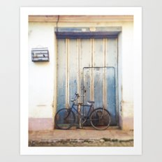 Bird and Bicycle. Art Print
