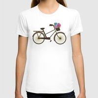 bike T-shirts featuring Bike by Juliana Zimmermann