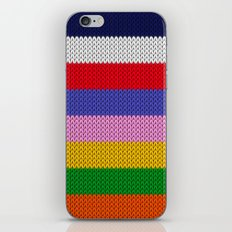Knitted colorful stripes  iPhone & iPod Skin