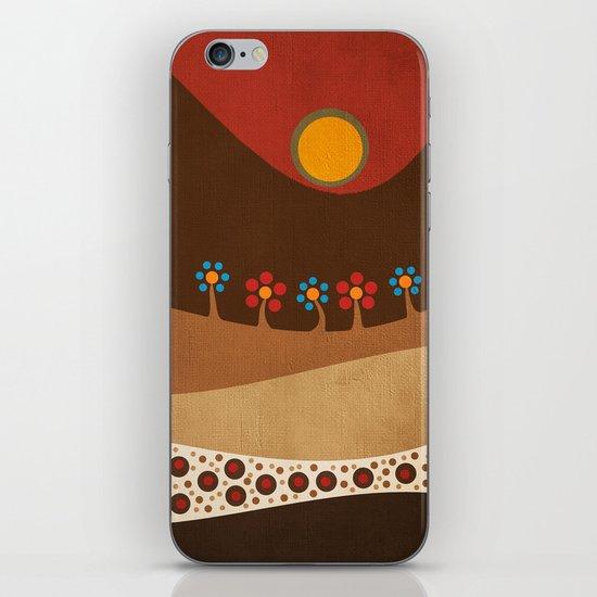 Circular landscape & flowers iPhone & iPod Skin
