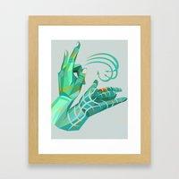 Hand-shape Aesthetic Framed Art Print