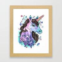 Melty Unicorn Framed Art Print