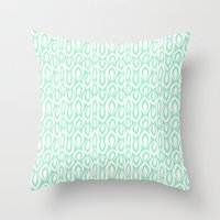 Leafyrific-Fresh Mint Throw Pillow