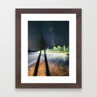 Darkening the Sky Framed Art Print