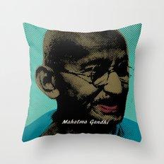 Mahatma Gandhi Pop Art Pictures Throw Pillow