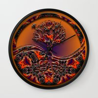 Tree Of Designs Wall Clock