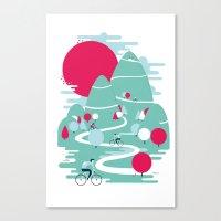 Le Tour Canvas Print