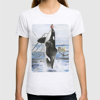 Marine Star Womens Fitted Tee Ash Grey SMALL