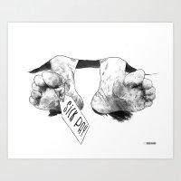 Sick pay Art Print