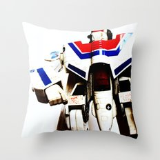 Let's fight like robots Throw Pillow