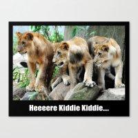 Here Kiddie Kiddie Poste… Canvas Print