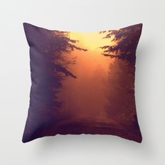 One Foggy Morning Throw Pillow