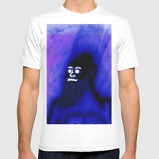 Bearded Gorilla Mens Fitted Tee White SMALL