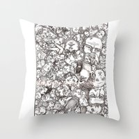 People-B Throw Pillow